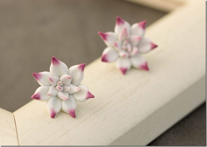 purple-white-succulent-stud-earrings