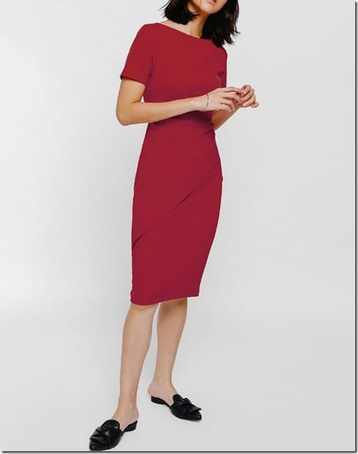red-midi-ruched-dress