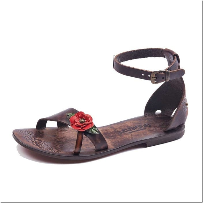rose-engraved-ankle-wrap-leather-sandals