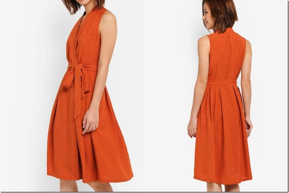 The Sleeveless Midi Wrap Dress For An Elevated Casual Summer Dressing