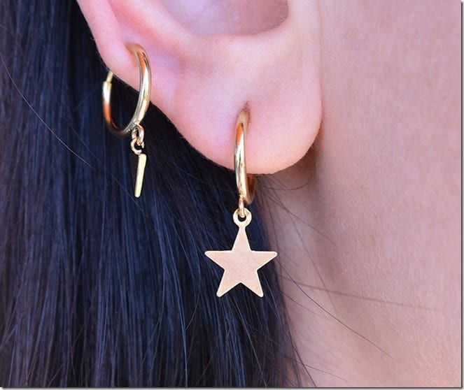 star-hoop-clip-on-earrings