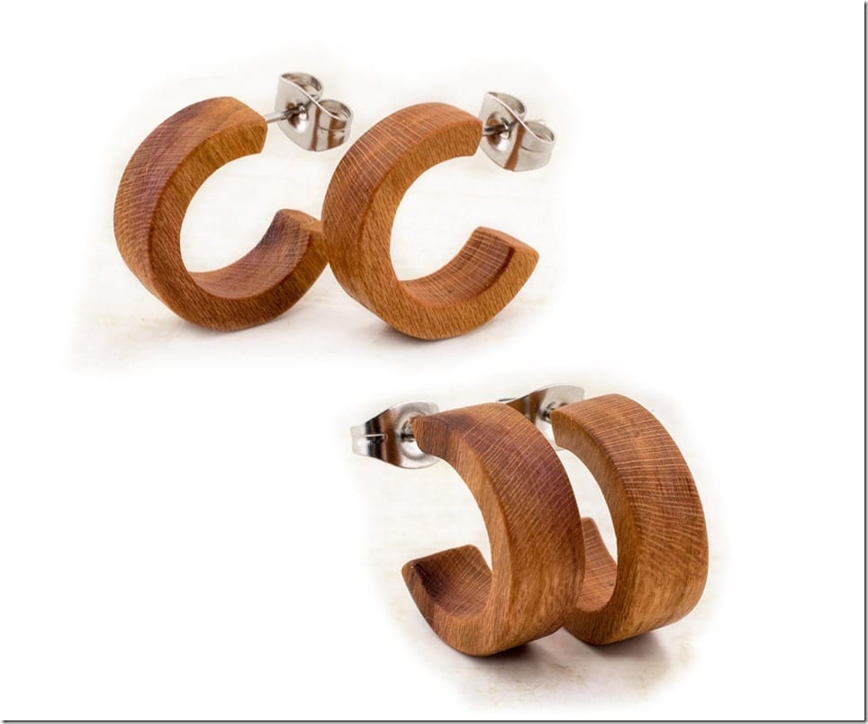 Minimalist Wood Stud Earrings To Decorate Your Natural Ear Lobes