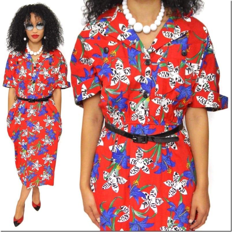 vibrant-floral-shirt-style-80s-dress