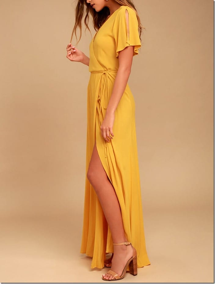 yellow-summer-maxi-wrap-dress