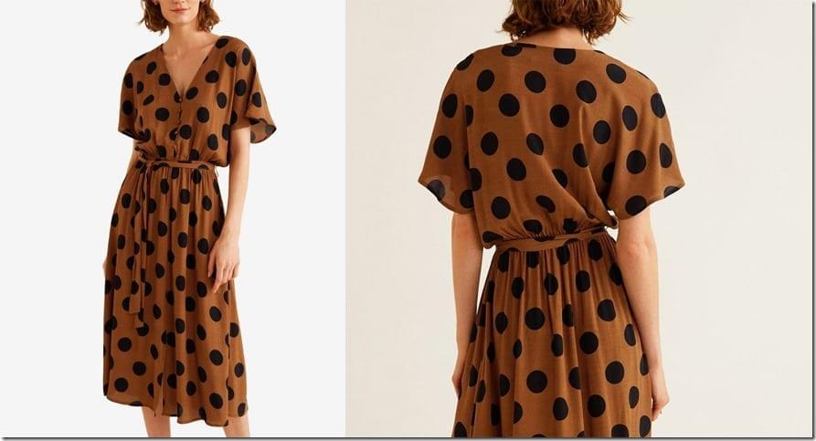 brown-polka-dot-midi-flowy-dress