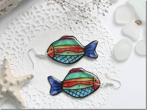 colorful-summer-transparent-fish-earrings