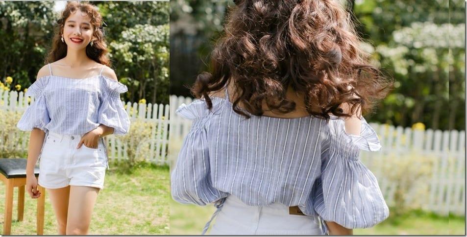 frilly-free-shoulder-stripe-blouse