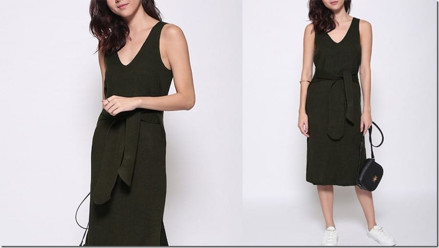 green-sleeveless-sash-dress