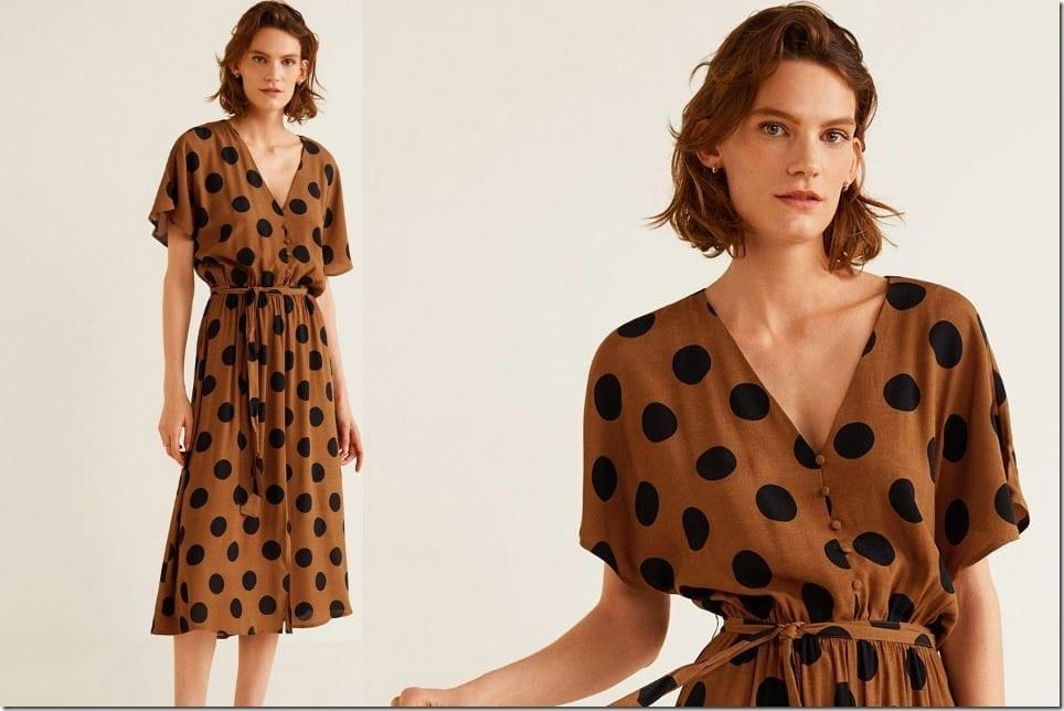 Short Sleeved Flowy Midi Dress With Versatile Summer Prints