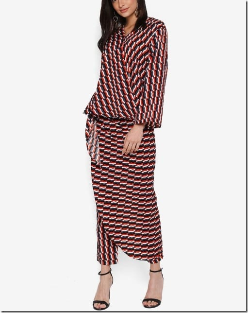 red-grey-kimono-wrap-set