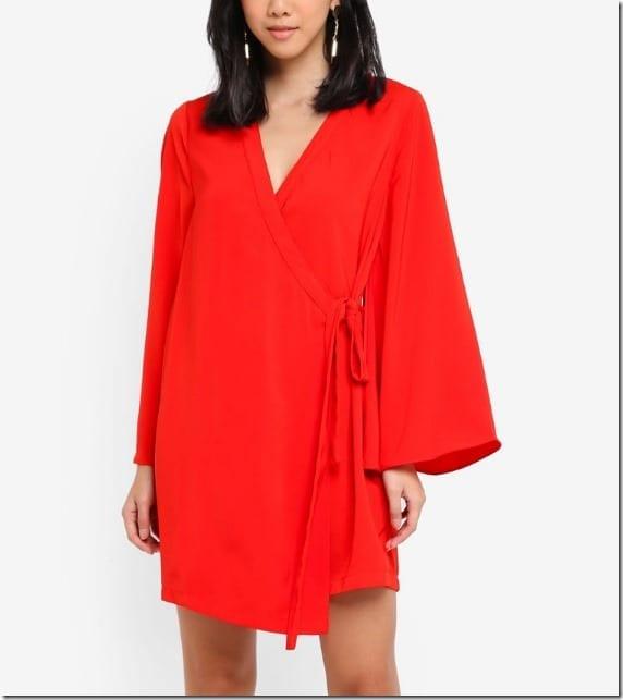 red-loose-kimono-dress