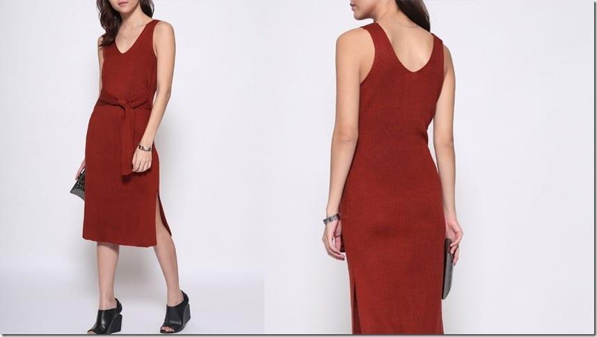 red-sleeveless-sash-dress