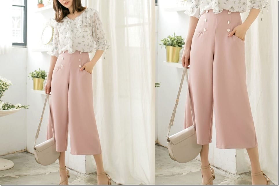 Dressy High Waist Culottes To Complete Your Professional But Chic OOTD