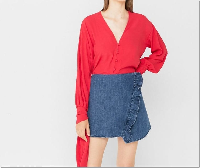 ruffle-mini-denim-skirt