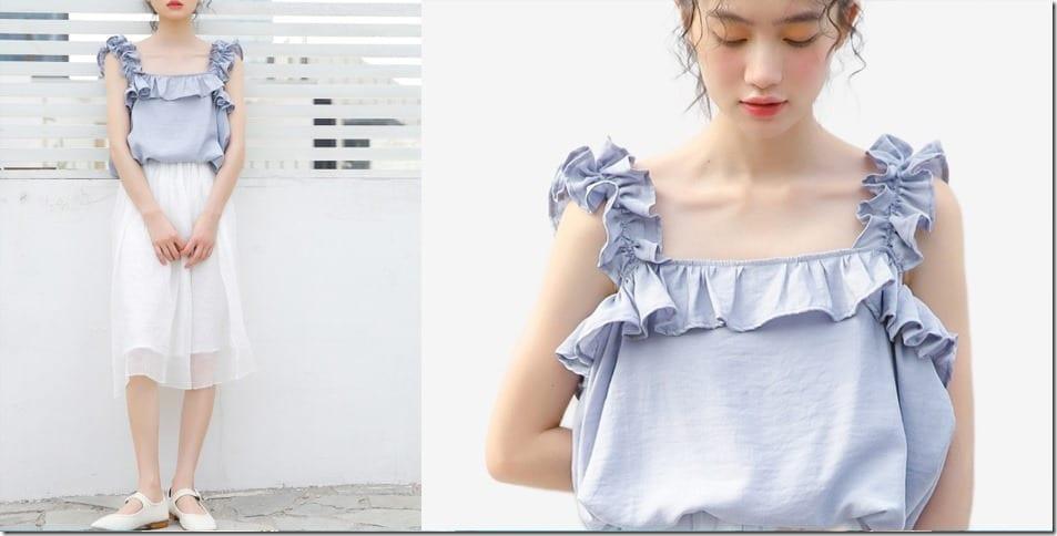 ruffle-sleeveless-blouse