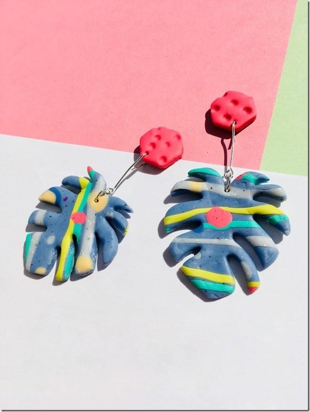 statement-monstera-leaf-botanical-earrings