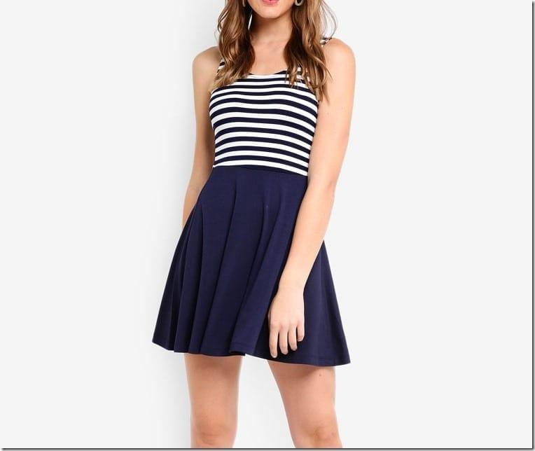 stripe-navy-mini-sleeveless-dress