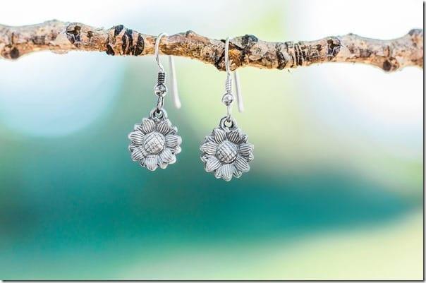 sunflower-sterling-silver-earrings