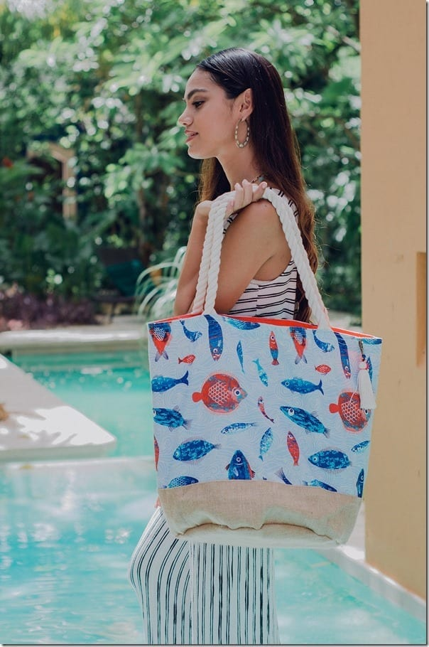 The FUN Roomy Beach Bag Style To Carry Over Your Shoulder