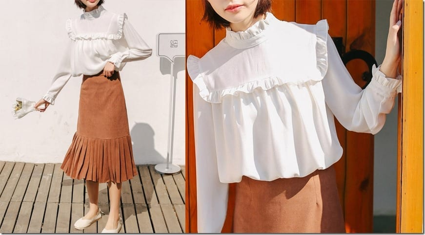 white-frill-high-neck-blouse