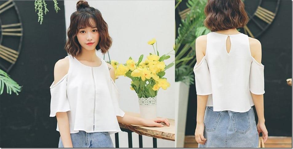 white-split-shoulder-blouse