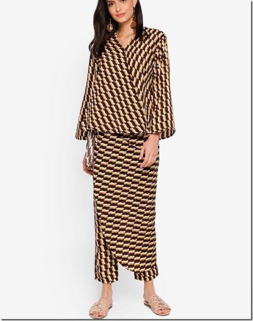 yellow-brown-kimono-wrap-set