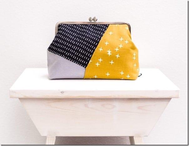 yellow-geometric-colorblock-clutch