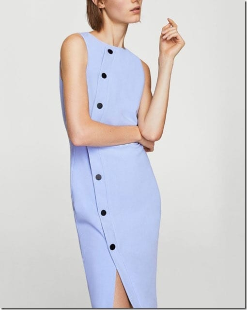 blue-side-buttoned-dress