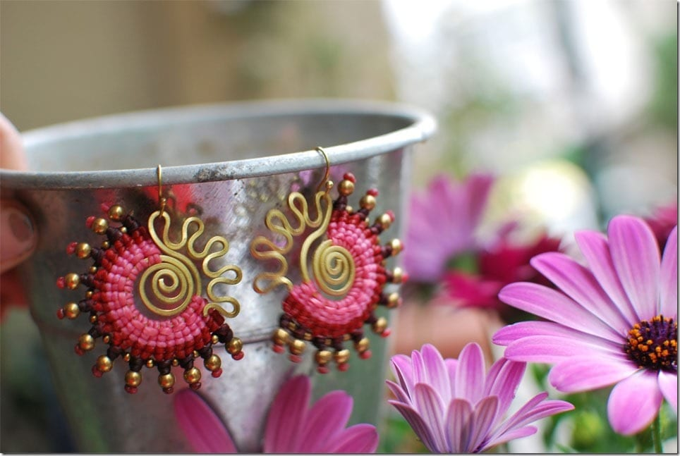 Bohemian Macrame Fan Earrings For Colorful Ears