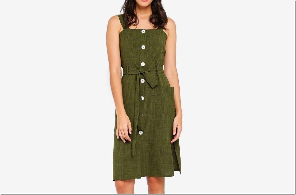 The Button Down Midi Dress For The Minimalist