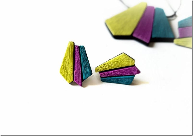 colorful-geometric-stud-earrings
