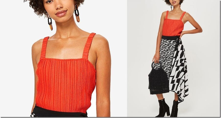 crinkle-red-cami-square-neck-top