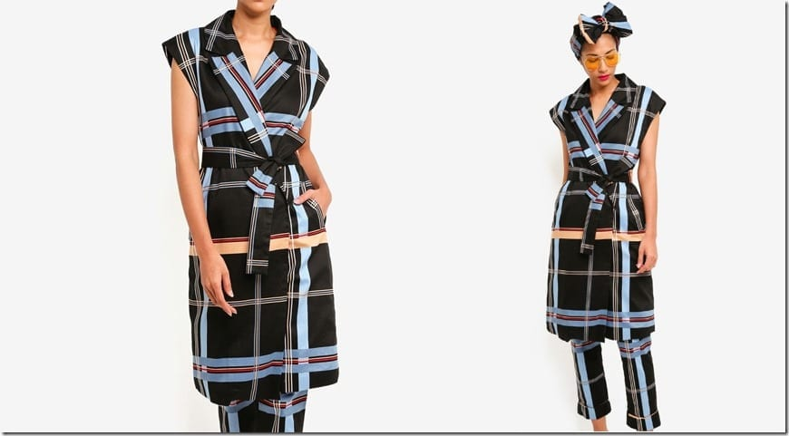 designer-checkered-waist-sash-vest