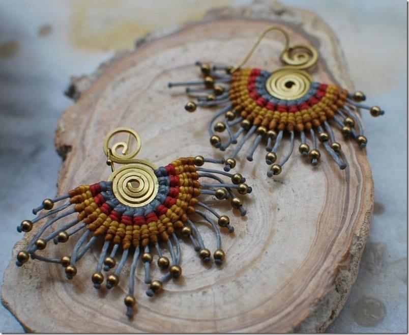gray-boho-macrame-fan-earrings