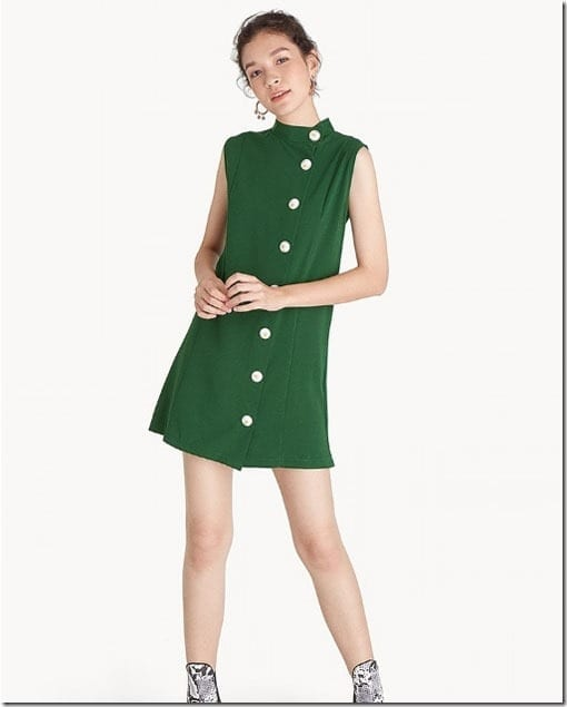 green-side-button-mini-dress