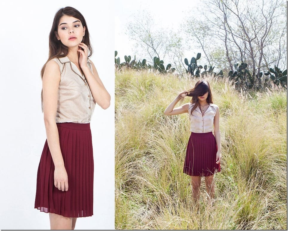 The Short Pleated Skirt Style To Elevate Your Casual OOTD8