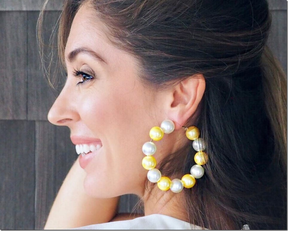 ivory-yellow-pearl-hoop-earrings