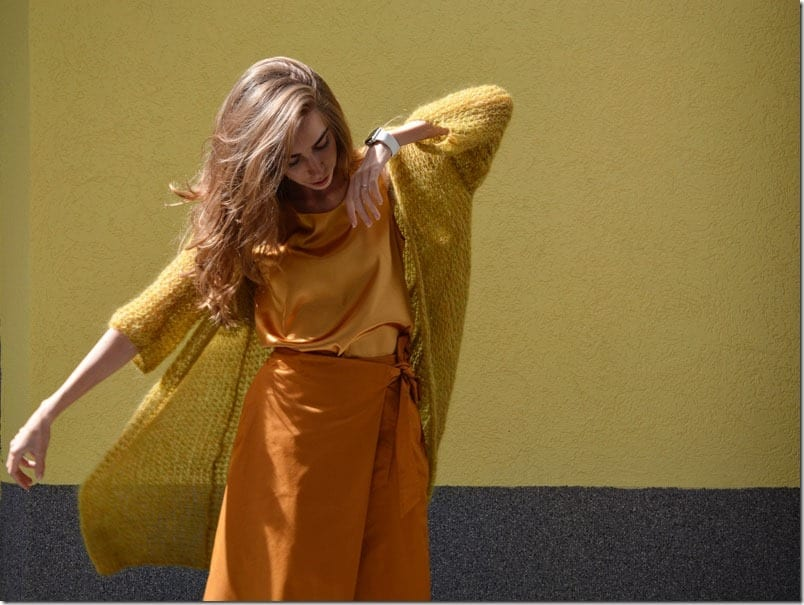 mustard-long-knit-cardigan