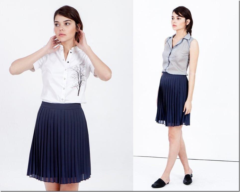 navy-blue-short-pleated-skirt