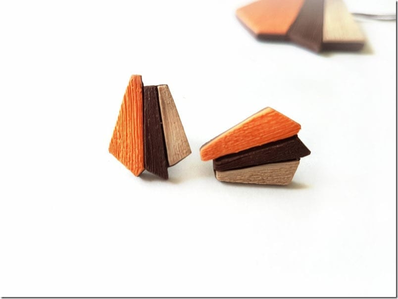 orange-geometric-stud-earrings