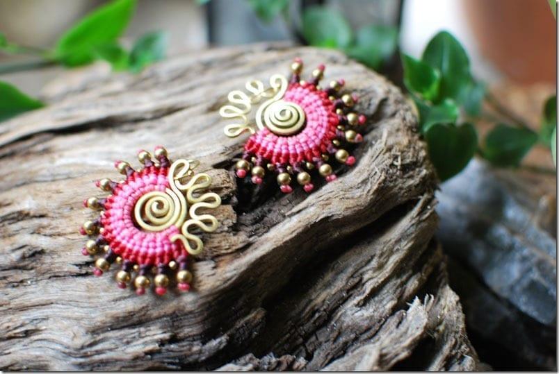 pink-boho-macrame-fan-earrings