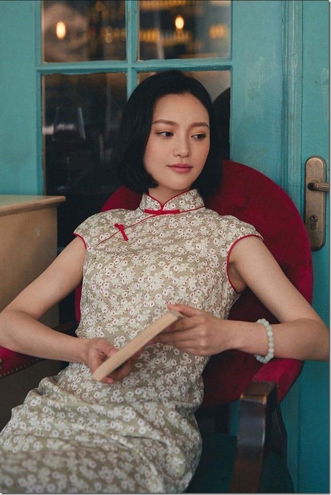 red-floral-cotton-cheongsam-dress
