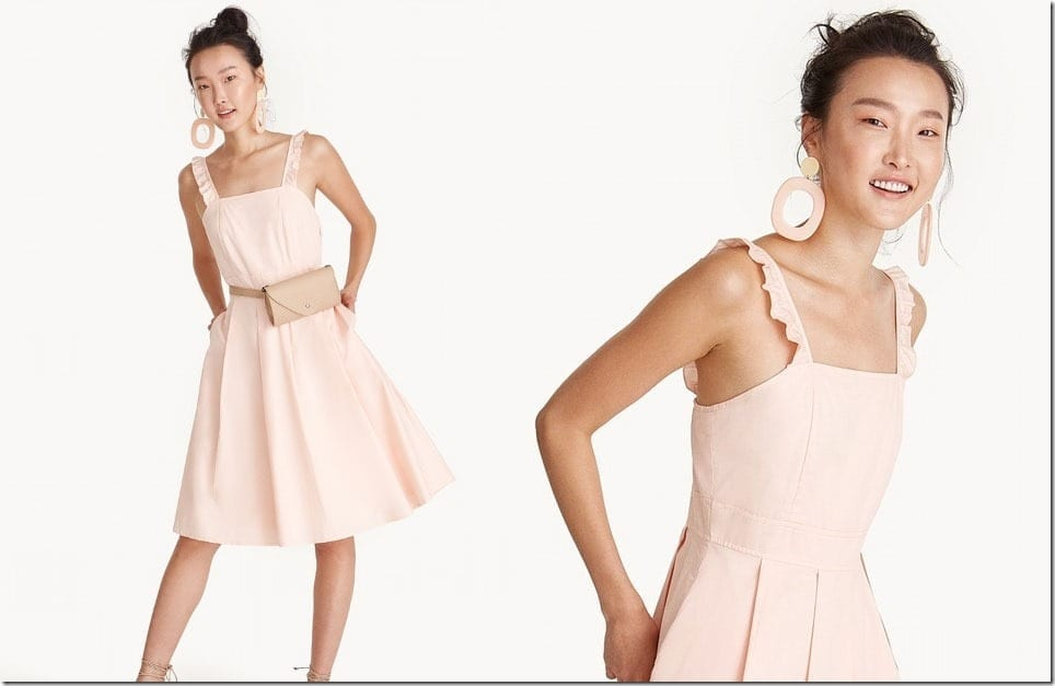The Summer Square Neck Dress With Sweet Ruffle Straps