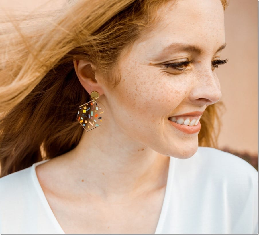 The Colorful Clear Acrylic Earrings For An Upbeat Ear Game