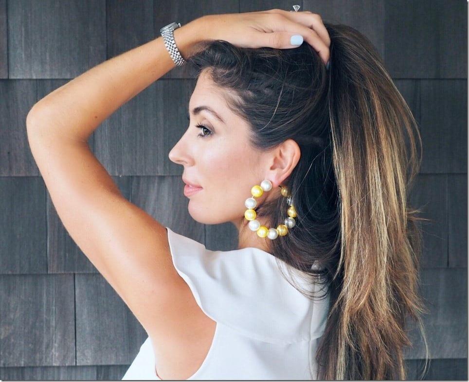 Stunning Pearl Hoop Earrings For Statement Ears