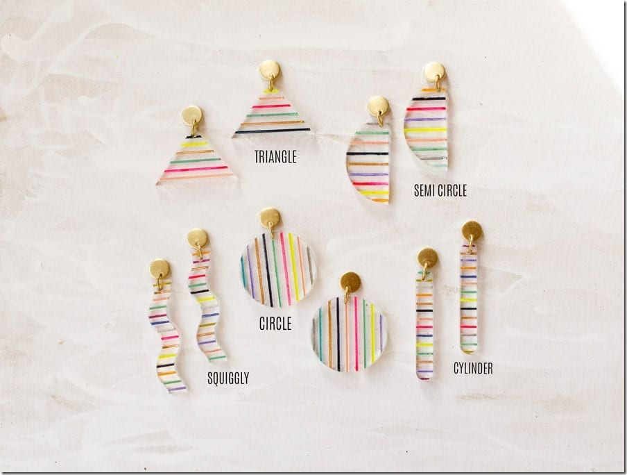 stripe-clear-acrylic-earrings