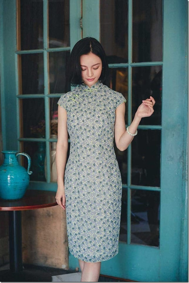 tropical-green-cotton-cheongsam-dress