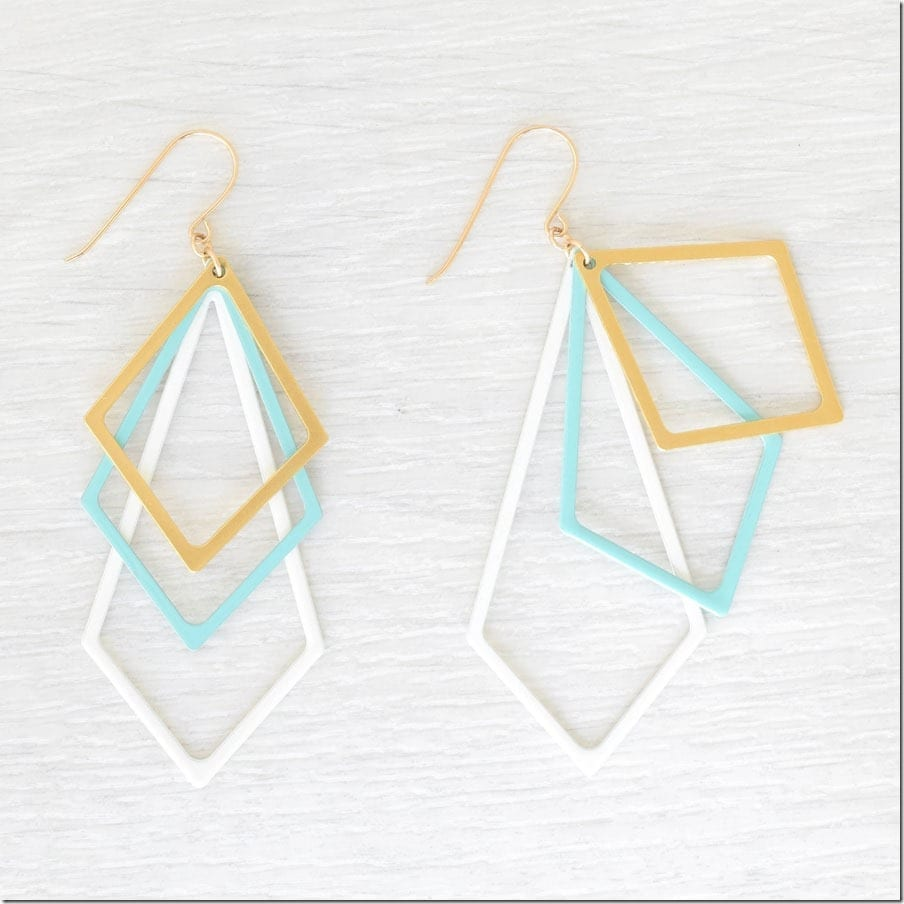 turquoise-layered-statement-geometric-earrings