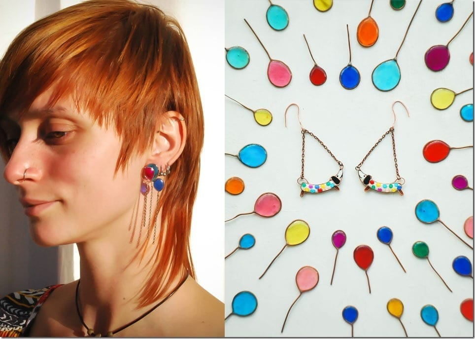 Adorable Glass Earrings For Quirky Ear Lobes