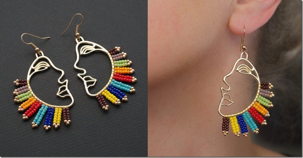 The Unique Abstract Face Earrings To Frame Your Festive Ears
